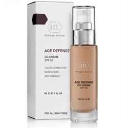 Holy Land AGE DEFENSE CC Cream Medium SPF50 - Корректирующий крем, натуральный оттенок 50мл - фото 10576