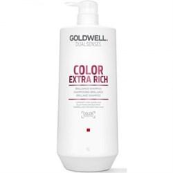 """Шампунь """"Goldwell Dualsenses Color Extra Rich Brilliance Shampoo"""" 1000мл интенсивный для блеска окрашенных волос - фото 12481"""