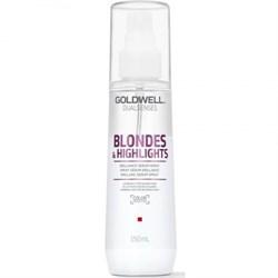 "Спрей-сыворотка ""Goldwell Dualsenses Blondes & Highlights Brilliance Serum Spray"" 150мл для осветленных волос - фото 12556"