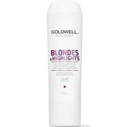 """Кондиционер """"Goldwell Dualsenses Blondes & Highlights Anti-Yellow Conditioner"""" 200мл против желтизны для осветленных и мелированных волос - фото 12559"""