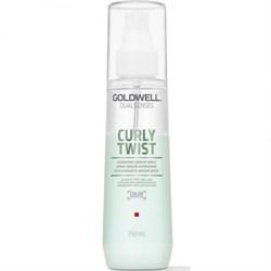 """Спрей-сыворотка """"Goldwell Dualsenses Curly Twist Hydrating Serum Spray Увлажняющая"""" 150мл для вьющихся волос - фото 12707"""