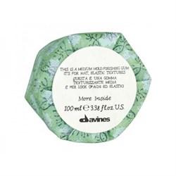 """Гель """"Davines More inside Medium Hold Finishing Gum Эластик"""" 100мл для матовых подвижных текстур - фото 12792"""
