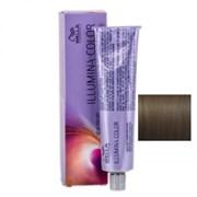 """Крем-краска """"Wella Professionals Illumina Color 5/81 Светло-коричневый жемчужно-пепельный"""" 60мл стойкая"""