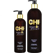 """Шампунь """"CHI Argan Oil Plus Moringa Oil Shampoo"""" 750мл восстанавливающий с маслом арганы"""