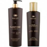 GREYMY Silver Result Hair KERATIN TREATMENT + Clarifying SHAMPOO - Восстанавливающий крем для волос + Очищающий шампунь 500 - 800мл